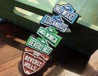 Regalo divertido imán decorativo de nevera de goma de recuerdo de viaje turístico de Los Ángeles, Los Ángeles, Estados Unidos