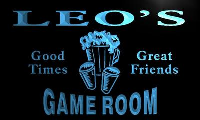 x0168-tm Leos Bar Game Room Custom Personalized Name Neon Sign Wholesale Dropshipping On/Off Switch 7 Colors DHL