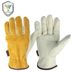 OZERO рабочие перчатки из натуральной кожи мужские рабочие сварочные перчатки защитные садовые спортивные мото износостойкие перчатки 0007