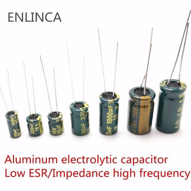 5-20pcs 10V 16V 25V 35V 50V Low ESR high frequency aluminum capacitor 47UF 100UF 220UF 330UF 470UF 680UF 1000UF 1500UF 2200UF 4