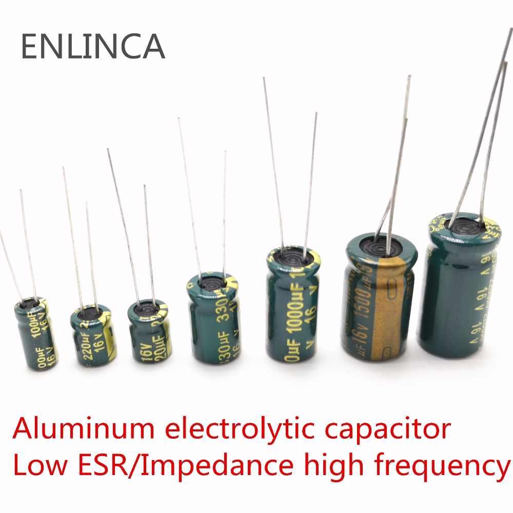 Aluminum Radial Electrolytic Capacitor Low ESR Green 1UF-2200UF 10V-400V 3000H