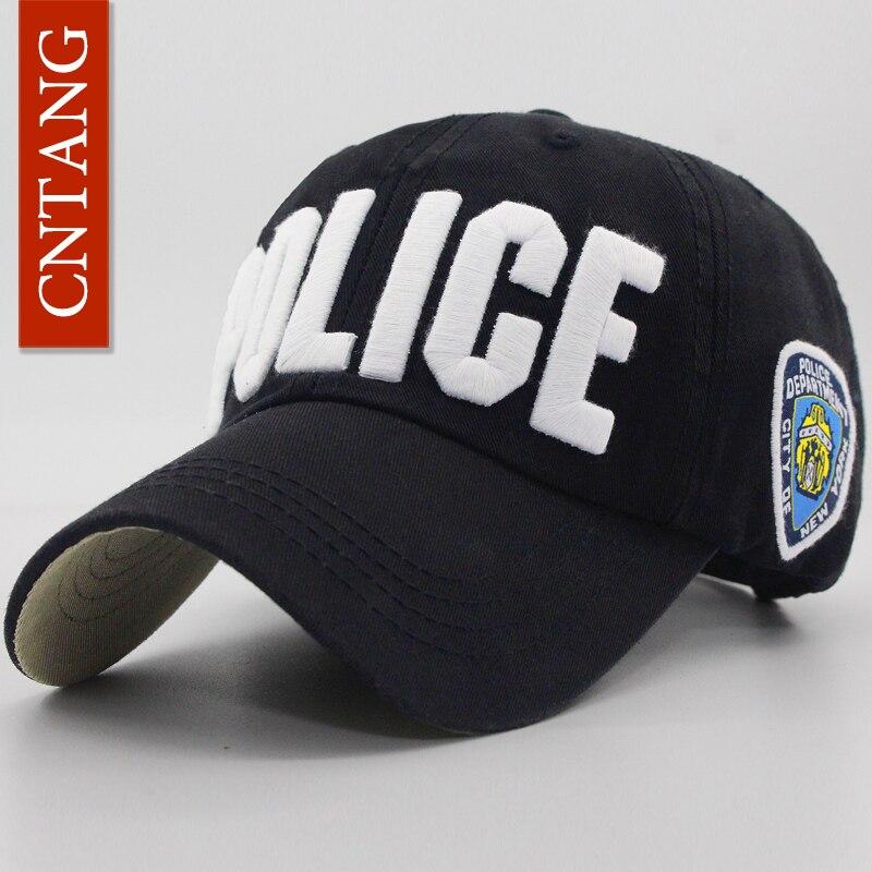 CNTANG Brand Novelty Fashion Unisex Letter POLICE Hats Cotton Baseball Cap Casual Snapback For Women Men Outdoor Sport Caps бейсболк мужские
