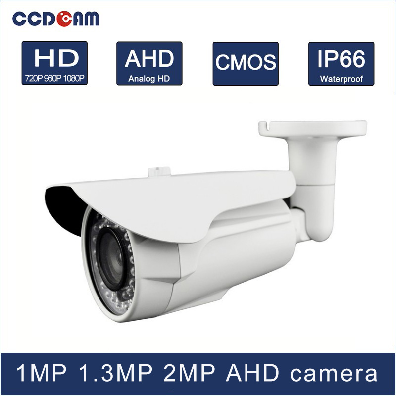 CCDCAM 1MP 1.3 MP 2 MP high definition AHD IR Waterproof camera for security systemCCDCAM 1MP 1.3 MP 2 MP high definition AHD IR Waterproof camera for security system