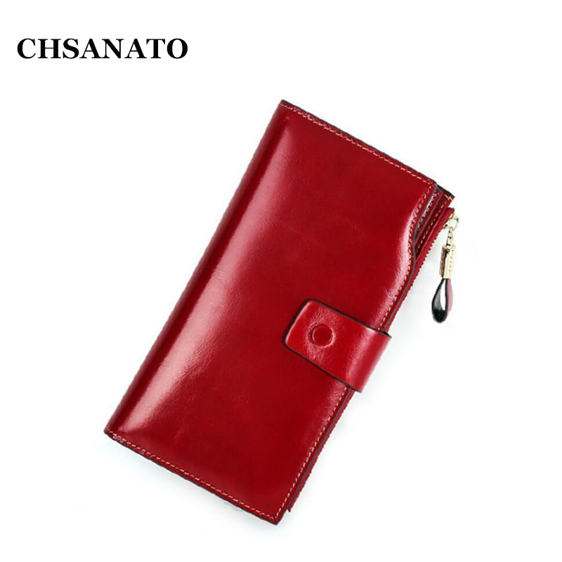 High Quality Ladies Cowhide Purse Bags Fashion Hasp Long Coin Purse Women's Wallet Female Genuine Leather Wallet
