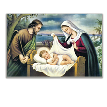 Jesus Oil Painting Religious Subjects  Figure Unframed Hand Painted Horizontal Rectangle Wall Pictures Canvas Art Free Shipping