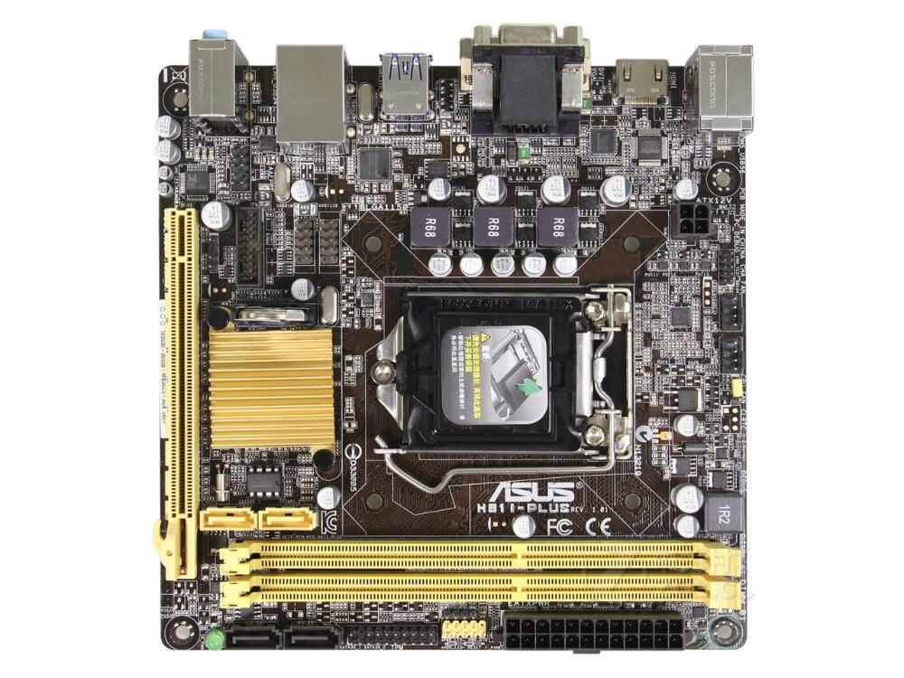 original motherboard ASUS H81I-PLUS  DDR3 LGA 1150 16GB Intel H81 Desktop motherborad