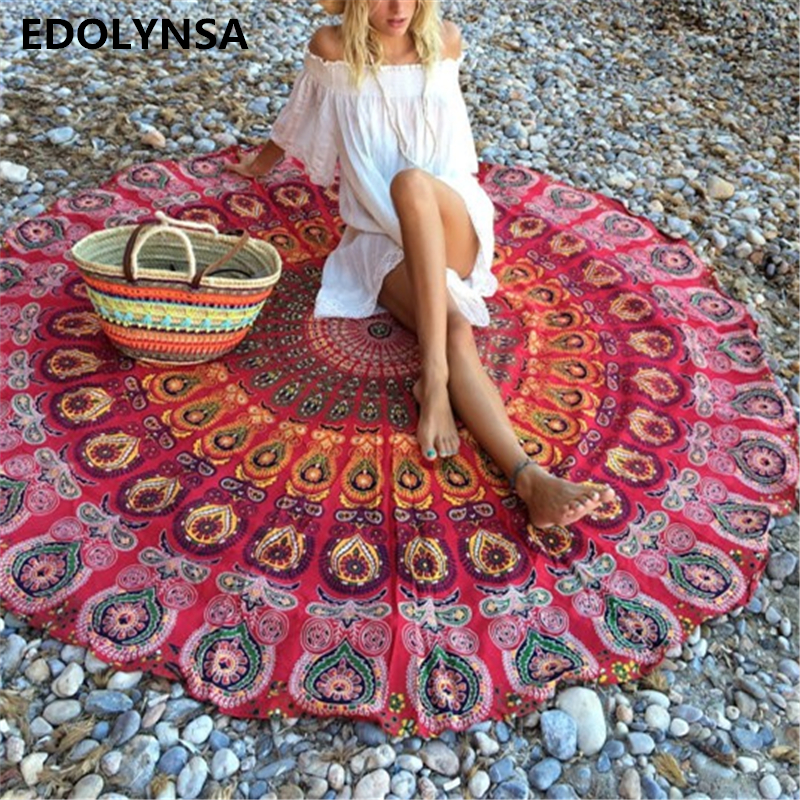 Smart Electronics Ishowtienda Neon 3d Color Beach Bath Towel Circle Carpet Yoga Mat Large Round Blanket Throw With Tassel 60 Less Expensive Smart Home