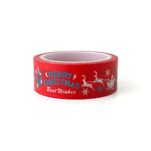 Big red christmas day decoration creative stationery color and paper tape