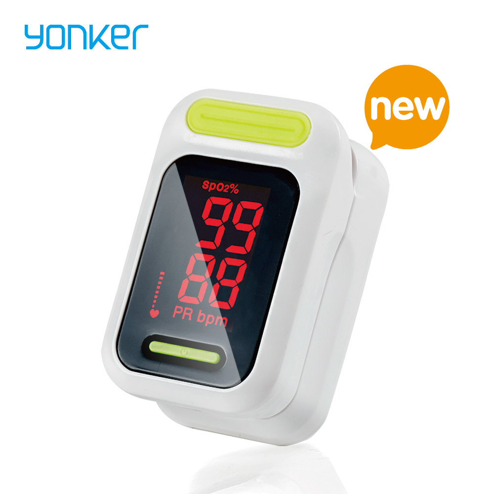 Yonker Pulse Oximeter Portable Finger Pulse Oximeter Medical Fingertip Oximeter Blood Oxygen Saturation Monitor LED Oximetro