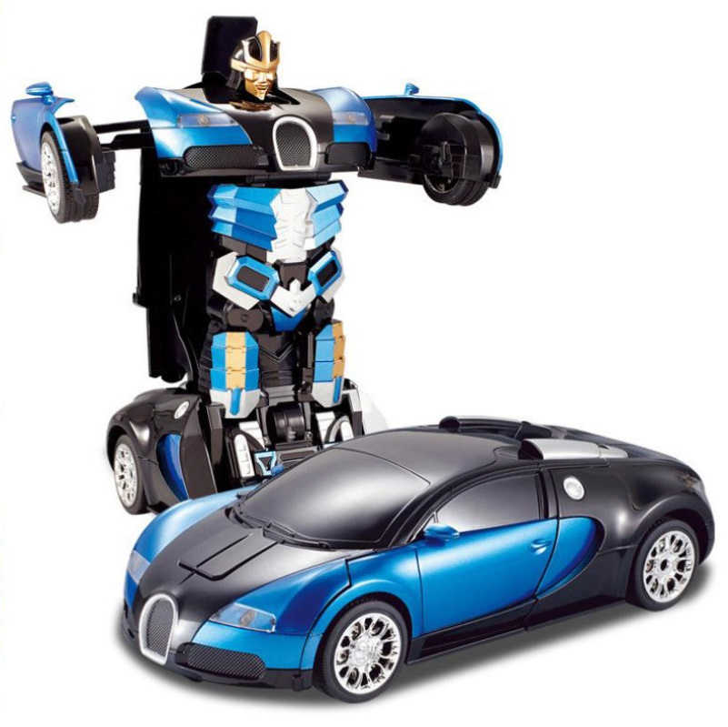 2 in 1 Transformation 2.4G RC Remote Control Deformation Robot Car Rechargeable RC Car Toys s1000rr turn led lights
