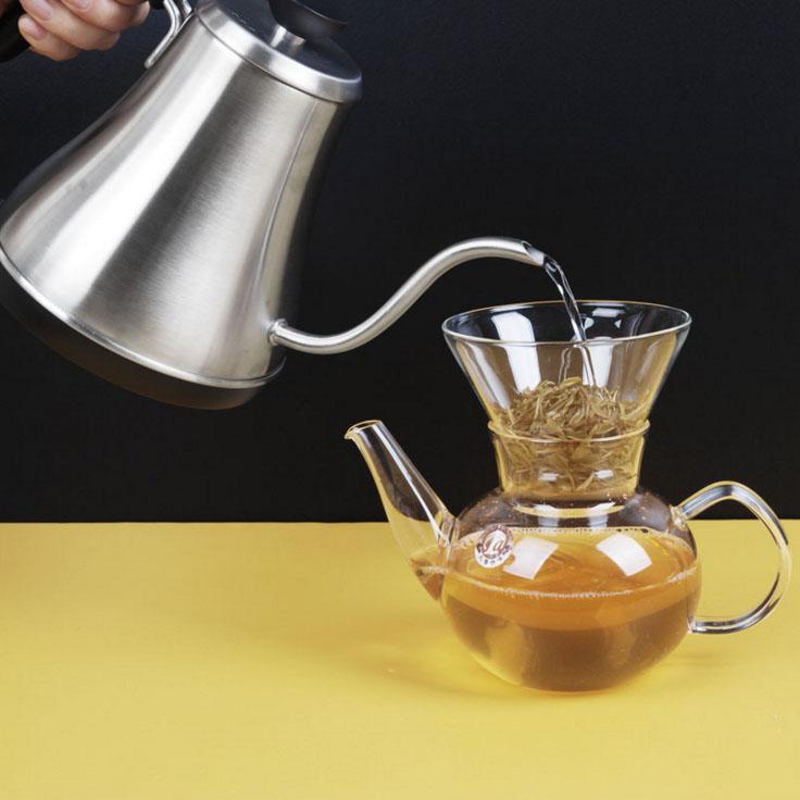 800 ml 220 V rvs theepot koffie thee gereedschap giet over koffie pot ketel keuken gereedschap thee pot - 3