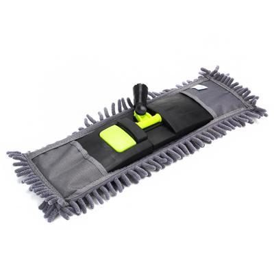 Швабра с выдвижной ручкой и тряпка из микрофибры для чистки и уборки дома - 4