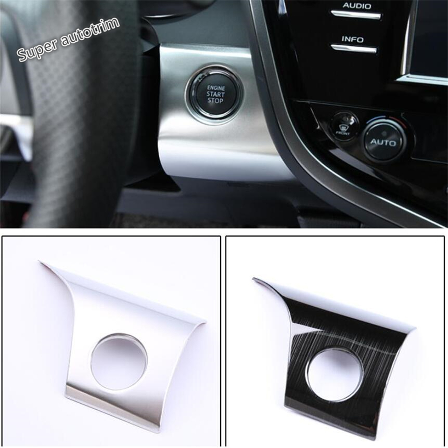 Lapetus Start Stop Engine Push Button Frame Key Frame Cover Trim Accessories Interior Fit For Toyota Camry 2018 2019 2 Colors in Interior Mouldings from Automobiles Motorcycles