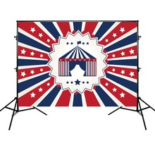 Birthday Party Photography Backdrops Circus Background Red and Black Stripes Photographic for Photo Studio