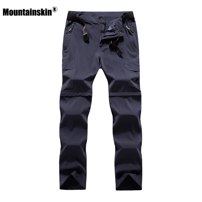 Mountainskin 6XL Männer der Sommer Quick Dry Abnehmbare Hosen Outdoor Sport Hose Wandern Trekking Angeln Camping Männlichen Shorts VA206