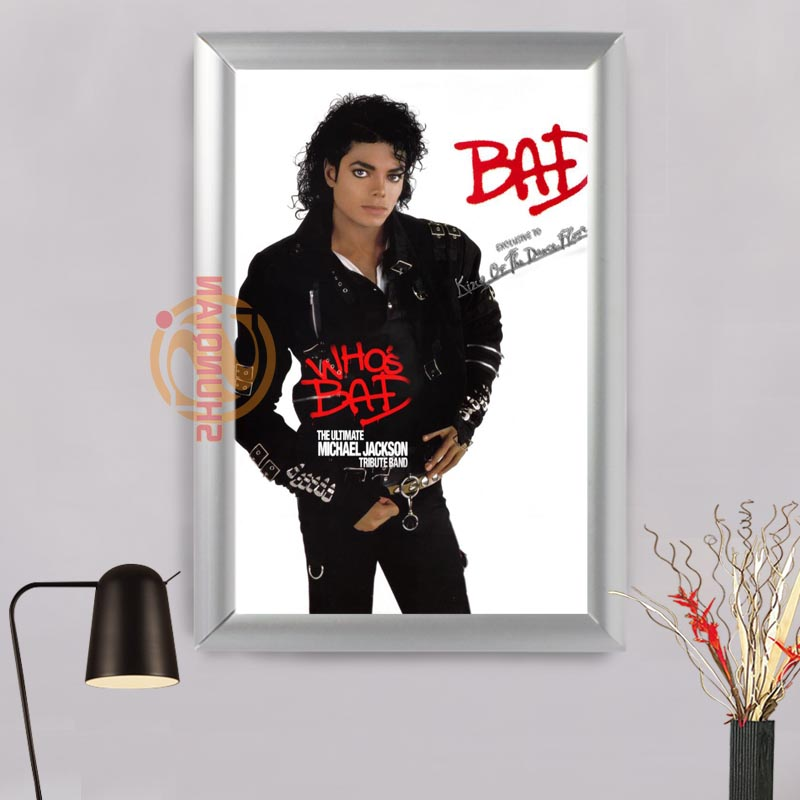 michael jackson1 custom canvas aluminum alloy frames home decor custom print photo picture on