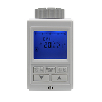 LCD Radiator Actuator Valves Temperature Controlled Electric Actuator Week Programming M30 1 5