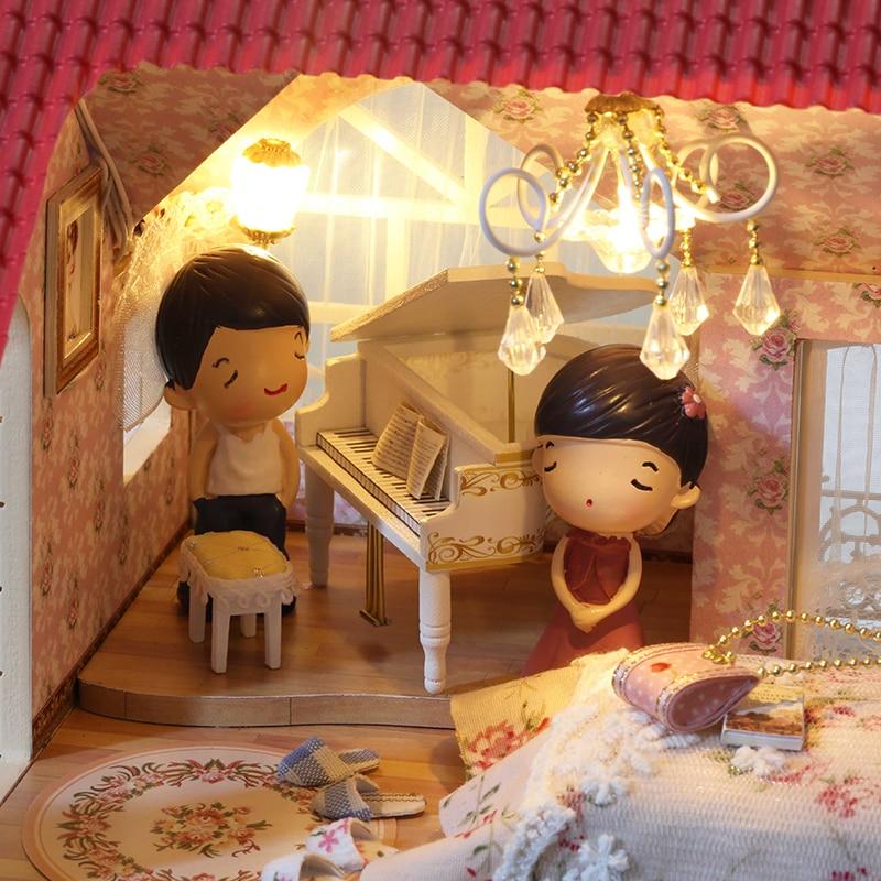 CUTEBEE Doll House Миниатюрная DIY Балалар Үйі - Қуыршақтар мен керек-жарақтар - фото 5