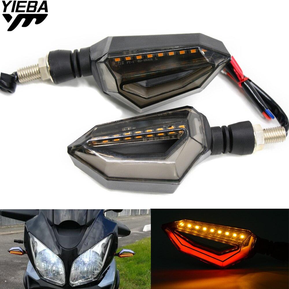 Universal Motorcycle Turn Signal light Brake Tail Stop Light For Kawasaki ZX6R ZX7R ZX10R ZX14R NINJA650R Z800 Z1000 yamaha MT09