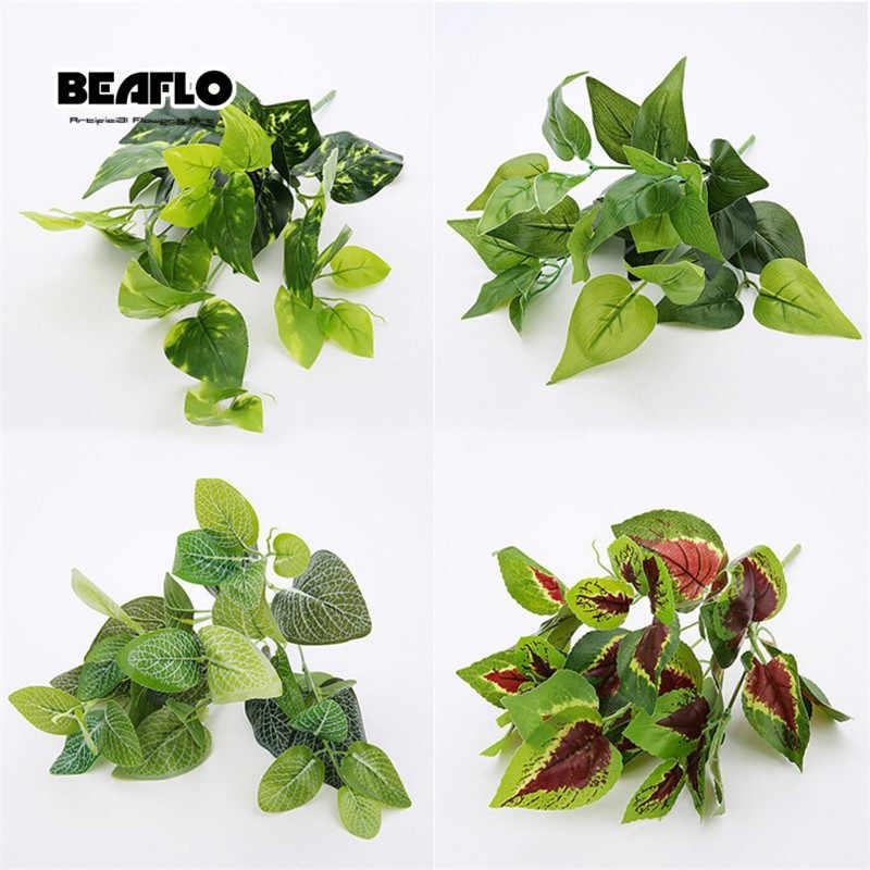 1 Pc Buatan Bunga Tanaman Kacang Hijau Daun Tata Bunga Tanaman