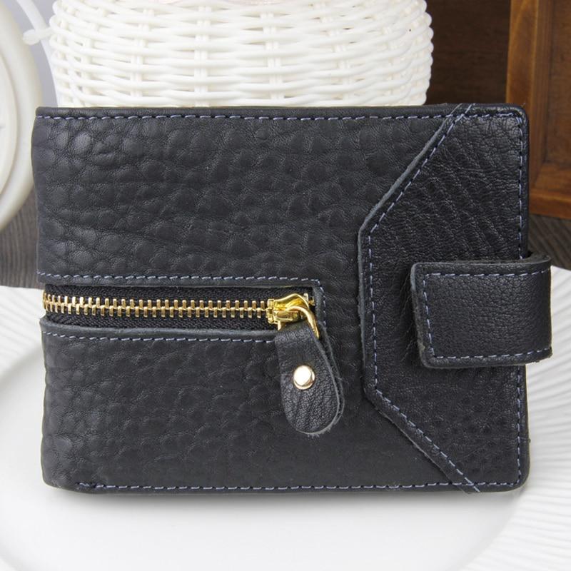 New 2018 Minimalist Designer Genuine Leather Men Slim Thin Mini Wallet Business Male Small Purse Money Clip Credit Card