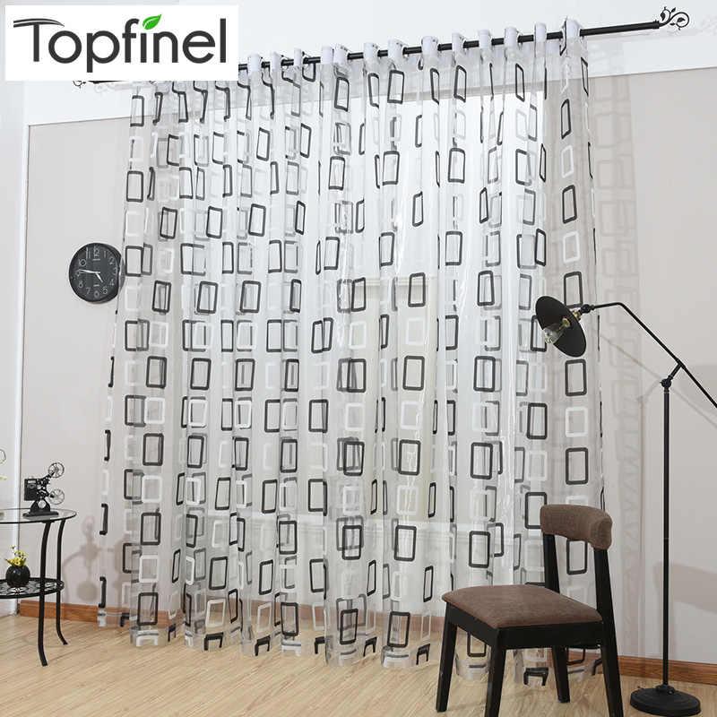 Новинки тюль для окна Занавески для кухни полупрозрачный элегантный тюль для гостиной спальни квадратная диаграмма тюля жалюзи