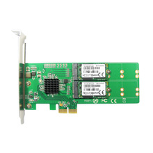 PCI Express 2.0 To 4x B + M key M.2 SSD Card PCI-e 2x NGFF SATA SSD Adapter PCIe low profile Bracket for Samsung 850 EVO PM871