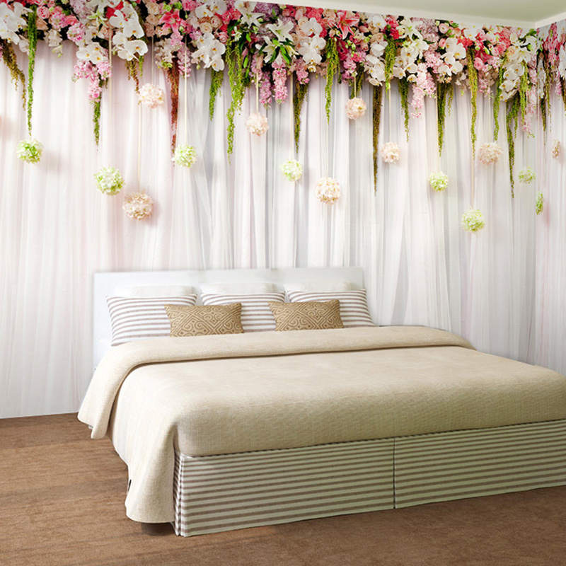 Custom Photo Wall Paper 3D European Style Pastoral Non-woven TV Background Large Mural Wallpaper For Bedroom Living Room Wall spring abundant flowers rich large mural wallpaper living room bedroom wallpaper painting tv background wall 3d wallpaper
