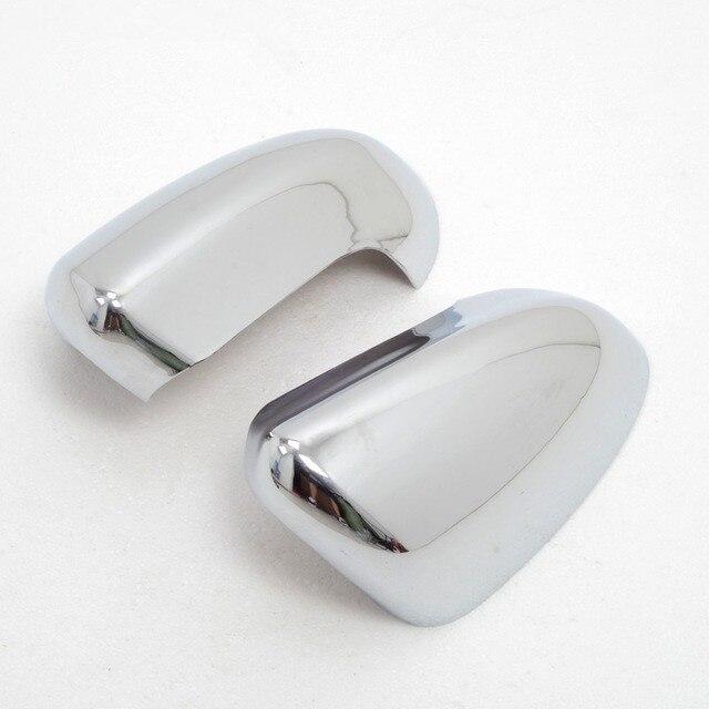 2 pièces ABS chromé côté porte rétroviseur capots de bordure accessoires de voiture adaptés pour Nissan Qashqai 2007 2008 2009 2010 2011 2012 2013