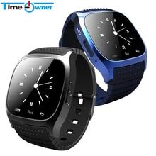 Esporte Bluetooth M26 com Dial SMS Lembre Pedômetro Relógio Inteligente relógio de Pulso de Luxo para IOS Samsung Android Telefone(China (Mainland))