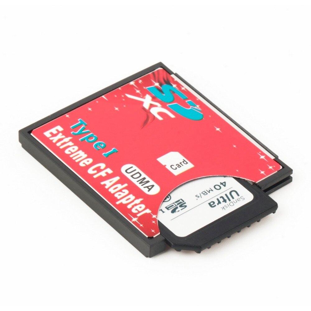 100% hohe Qualität Single Slot Extreme Für Micro SD/SDXC TF Zu Compact Flash CF Typ I Speicher Karte reader Writer Adapter Neueste
