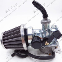 PZ22 22mm Motorcycle Carburetor Hand Cable Choke With 35mm Air Filter 50cc 70cc 90cc 110cc 125cc