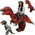 Костюм Раптора  динозавра  надувные игрушки для езды на улице  3 вида  T-REX  карнавальный костюм для Хэллоуина  роскошный костюм Пурима  для взр...