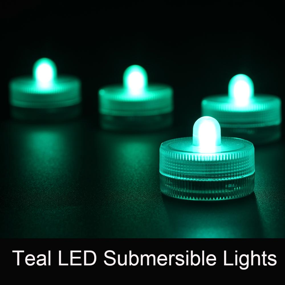 12pcs/set Battery Powered RGB 11 Colors Available Color Changing Waterproof Small LED Candle Light