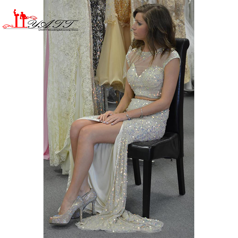 Popular Silver Sequin Dress Long with Split-Buy Cheap Silver ...