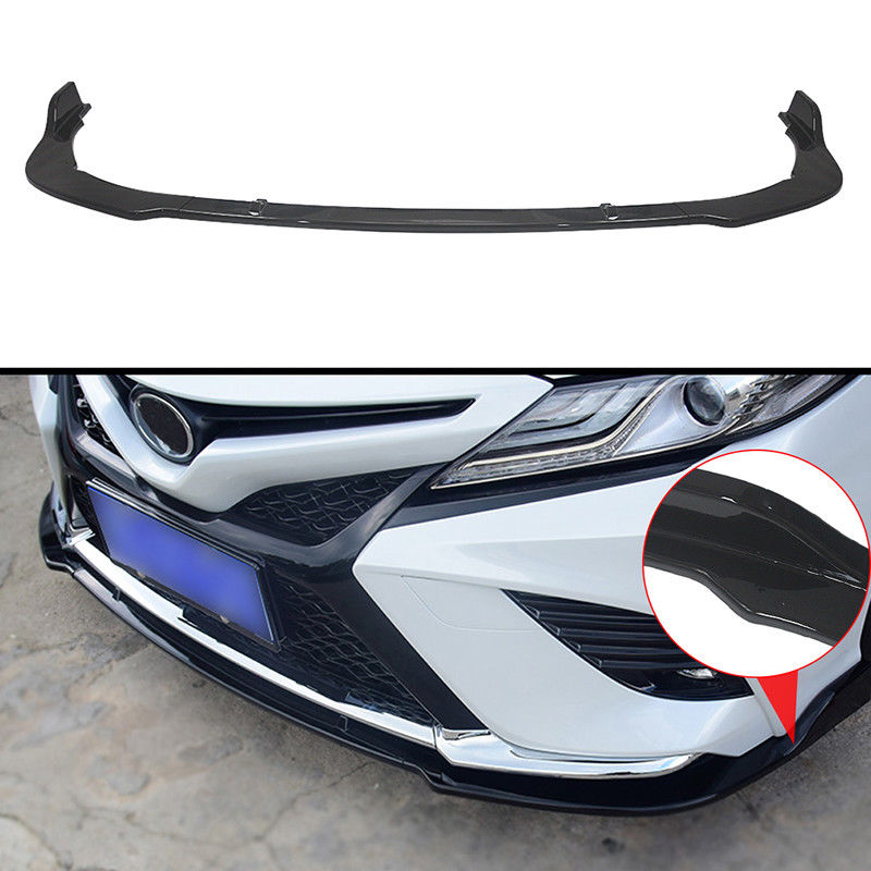 Loyalty for Toyota Camry SE/XSE 2018 2019 Gloss Black Front Bumper Chin Lip Protection Cover Trim Car Styling Auto Accessories maserati granturismo carbon spoiler