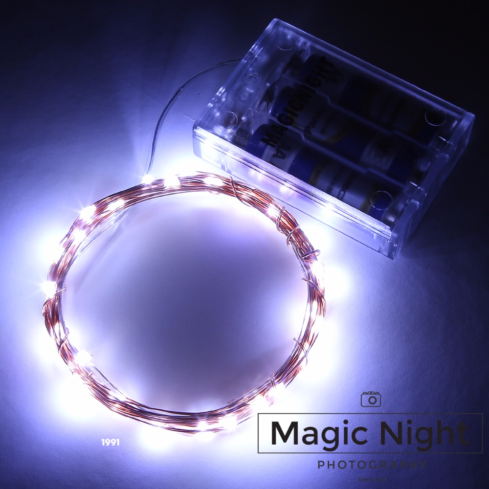 Magicnight 10ft 30 Cool White Mini Micro LED Starry Lights Submersible Fairy Lights Copper LED Lights Strings AA Battery Powered