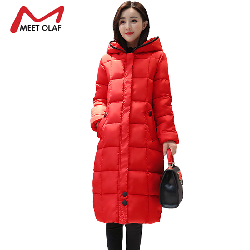 2017 High Quality Women's Winter Down Jackets Long Hooded Thick Warm Padded Parkas Snow Coats casacos de inverno feminino Y1688 casual 2016 winter jacket for boys warm jackets coats outerwears thick hooded down cotton jackets for children boy winter parkas