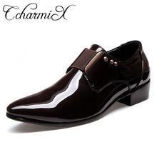 a67c309bea Os Homens Se Vestem Sapatos De Couro Italiano CcharmiX Deslizar Sobre Moda  Homem Oxfords Casamento Glitter