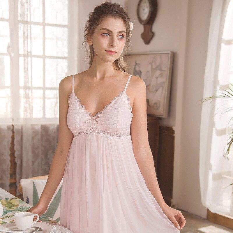 2018 Lace Nighty Sexy Nightwear Women Night Dress Sleepwear Lingerie Dress Women's Nightgown Sexy Ladies Nighties Slip Chemise