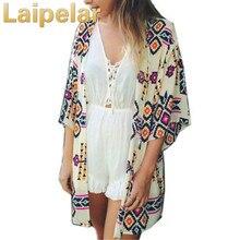 Laipelar Summer boho cardigan Women shirt tops blouses casual camisas femininas blusas kimono Female plus size