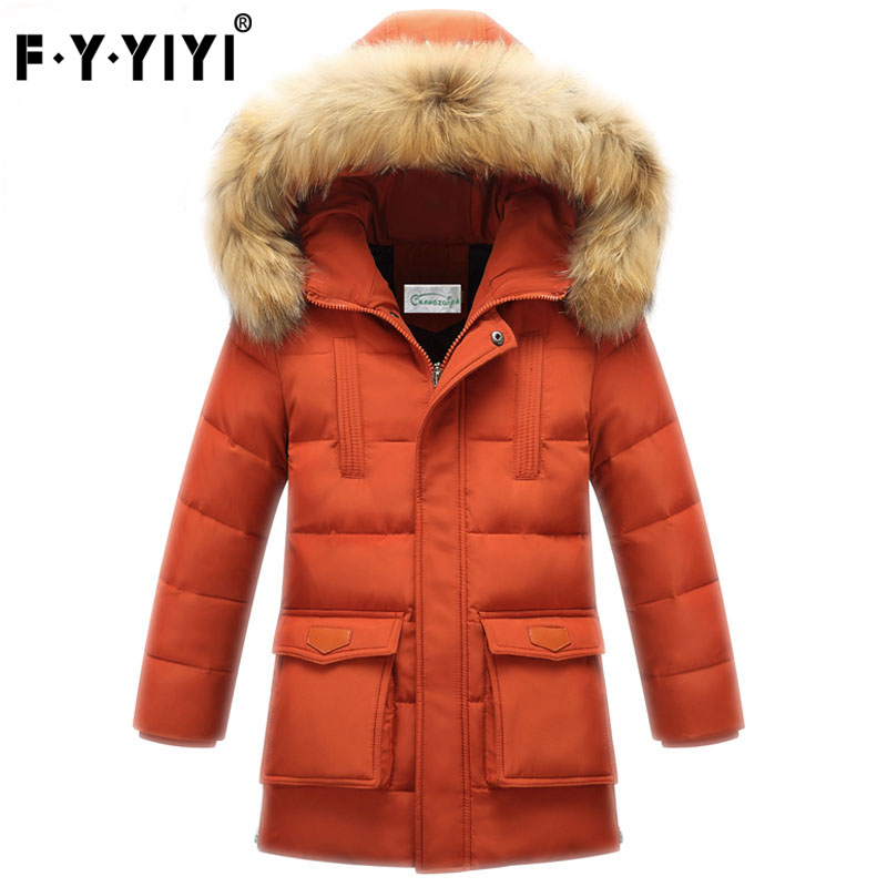 Children boy down jacket long children's wear in the new winter 2016 thickening boy cuhk children down jacket coat цена