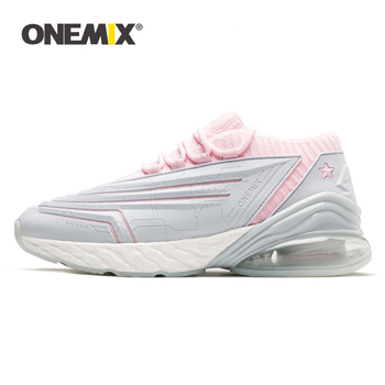 ONEMIX New Sneakers Women Shoes Bullet Technology Ultralight Damping Leather Air Running Shoes Outdoor Fitness Training Footwear