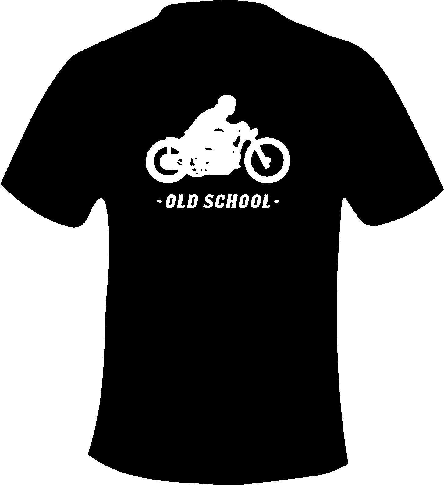 Design t shirt school - Design T Shirts Casual Cool High Quality Casual Printing Tee Biker Bobber Old School Style Motorcycle