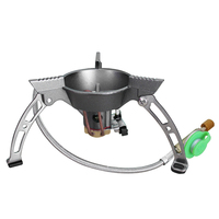 BRS Portable Outdoor Gas Stove Strong Firepower Picnic Camping Stove Gas Split Furnace for Fishing BBQ High Altitude