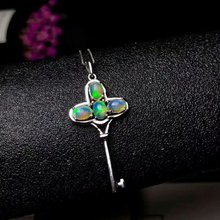 shilovem 925 sterling silver Natural opal Pendants fine Jewelry Customizable women trendy wedding  new wholesale yhz040601ago
