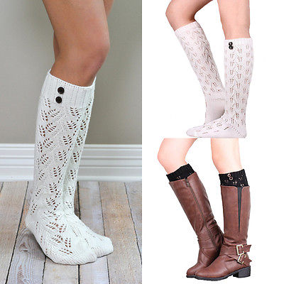 d2d75bbc2e2 New Fashion Women Winter Warm Leg Wamers Knitted Over Knee High Boots  Stockings Hot