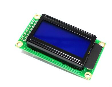 Free shipping 5pcs/lot Blue LCD0802 Character Display Module 5V 0802 for Arduino Connector
