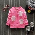 free shiping 2017 spring autumn baby girls bow sweet Sweatshirts, child design Jackets
