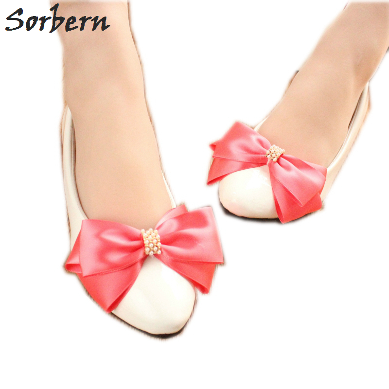 Sorbern Multi Color Bow Women Flat Shoes Wedding Bridesmaid Girls Shoe Beaded Flats Slip On Shoes For Pregnant WomanSorbern Multi Color Bow Women Flat Shoes Wedding Bridesmaid Girls Shoe Beaded Flats Slip On Shoes For Pregnant Woman